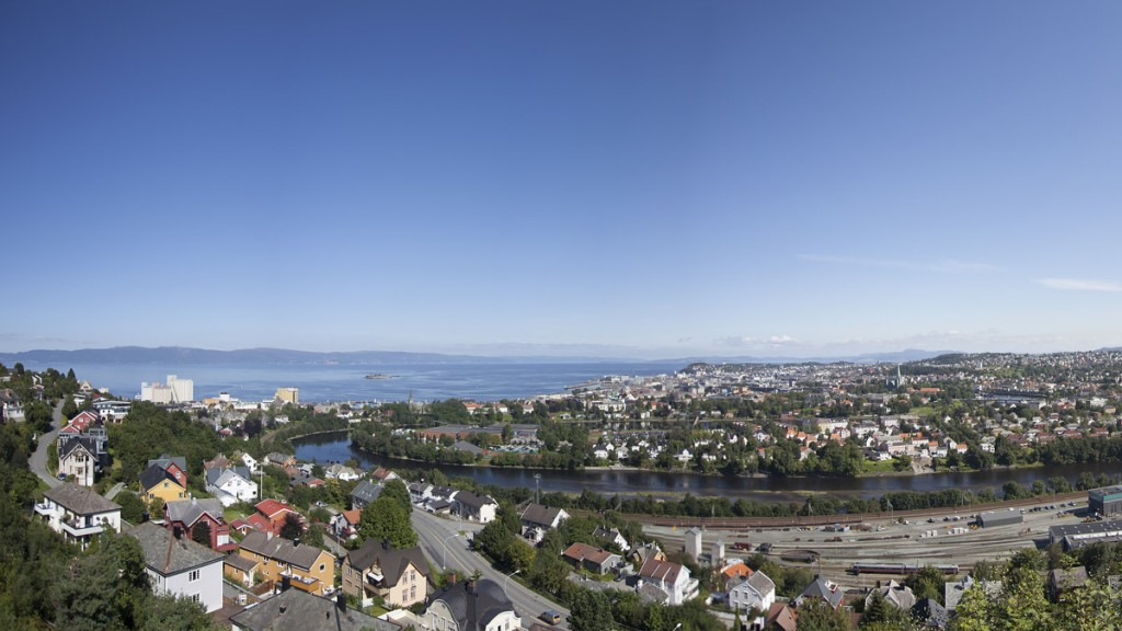 cad3b870 Nidelva river empties into the beautiful Trondheim Fjord – and we follow  the river upstream from the mouth up through the city.